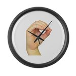 ASL Letter O Large Wall Clock