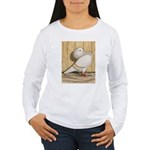 Khaki Mookee Pigeon Women's Long Sleeve T-Shirt