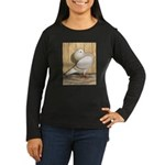 Khaki Mookee Pigeon Women's Long Sleeve Dark T-Shi