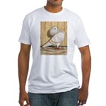 Khaki Mookee Pigeon Fitted T-Shirt