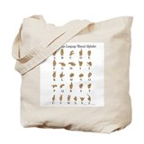 Sign Language Alphabet Tote Bag