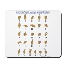 Sign Language Alphabet Mousepad