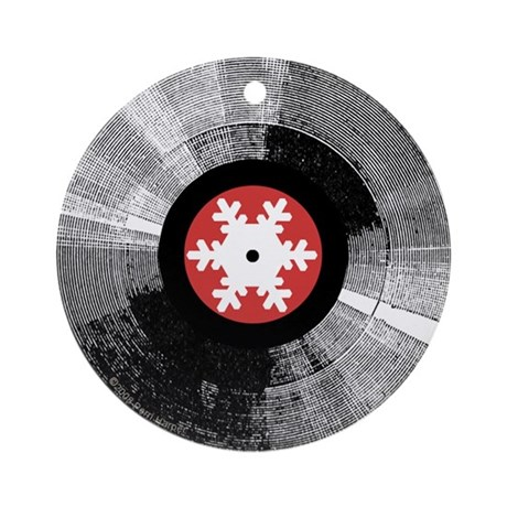 Holiday Snowflake Record Ornament