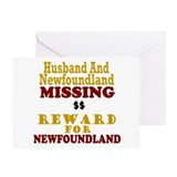 Husband & Newfoundland Missing Greeting Card
