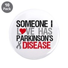 "Parkinson'sDiseaseLove 3.5"" Button (10 pack)"