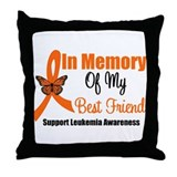 Leukemia In Memory BF Throw Pillow