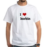 I Love korbin Shirt