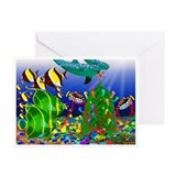 Dolphin Tree Greeting Cards (Pk of 10)
