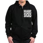 Hair Sucks Zip Hoodie (dark)