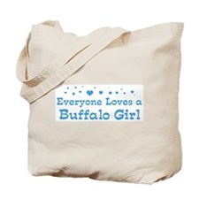 Loves Buffalo Girl Tote Bag