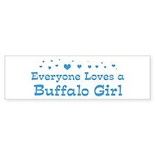 Loves Buffalo Girl Bumper Sticker (10 pk)
