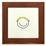 Cute Billy Blond Framed Tile