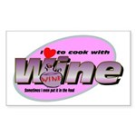 I Love Wine Rectangle Sticker 10 pk)