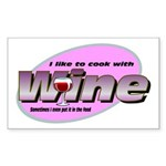 I Love Wine Rectangle Sticker