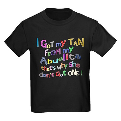 I Got My Tan - Abuelita Kids Dark T-Shirt