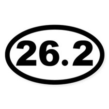 26.2 Marathon Oval Decal
