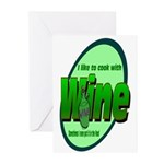 I Love Wine Greeting Cards (Pk of 10)