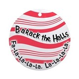 Barack the Halls ornament (Round)