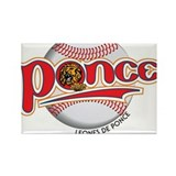 leones ponce Rectangle Magnet