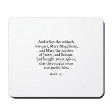 MARK  16:1 Mousepad