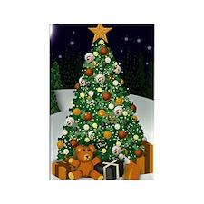 Bear Christmas Rectangle Magnet (10 pack)