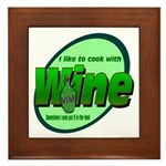 I Love Wine Framed Tile