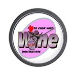 I Love Wine Wall Clock