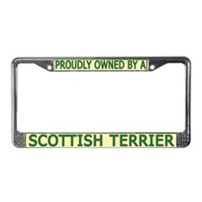Proudly Owned Scottish Terrier License Plate Frame