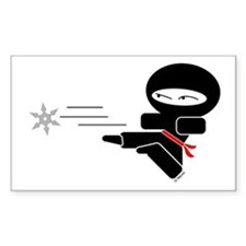 Lil Ninja Rectangle Decal