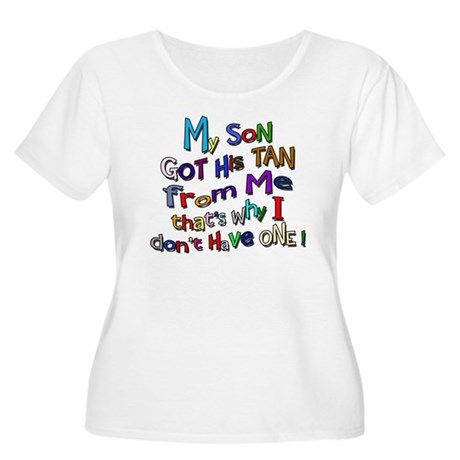 My Son got His Tan Women's Plus Size Scoop Neck T-