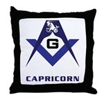 Masonic Capricorn Sign Throw Pillow