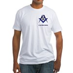 Masonic Capricorn Sign Fitted T-Shirt