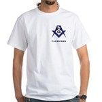 Masonic Capricorn Sign White T-Shirt