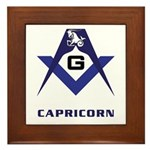 Masonic Capricorn Sign Framed Tile