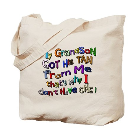 My Grandson got his Tan Tote Bag