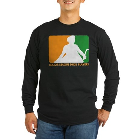 Major League Dhol Players Long Sleeve Dark T-Shirt