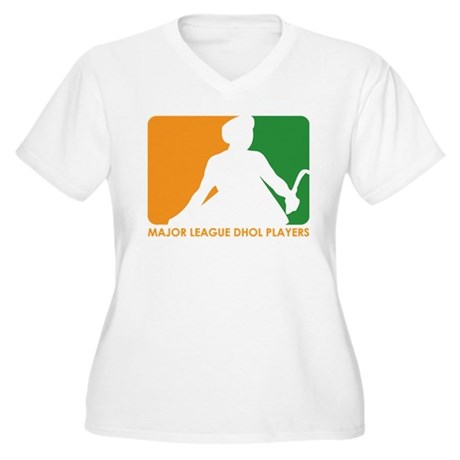Major League Dhol Players Women's Plus Size V-Neck