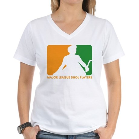 Major League Dhol Players Women's V-Neck T-Shirt