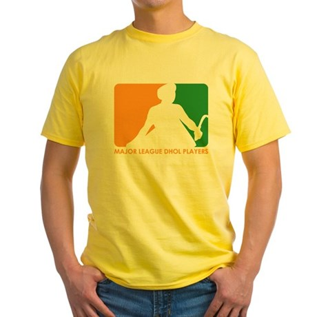 Major League Dhol Players Yellow T-Shirt