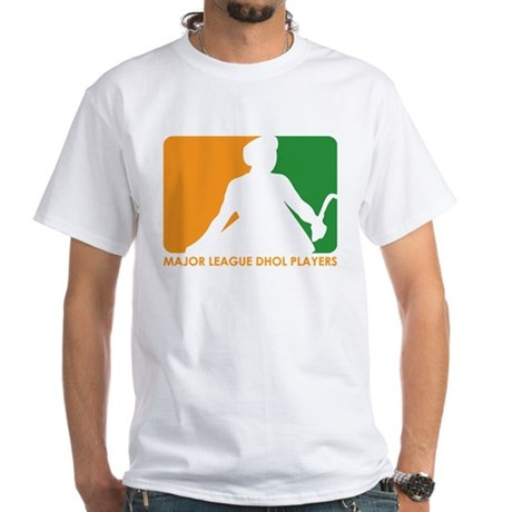 Major League Dhol Players White T-Shirt