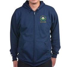 El Salvador Coat of Arms Zip Hoodie