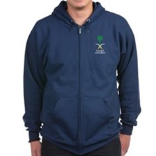 Saudi Arabia Coat of Arms Zip Hoodie