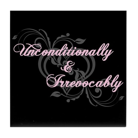 Irrevocably In Love Twilight Tile Coaster