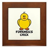 Forensics Chick Framed Tile