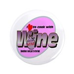 "I Love Wine 3.5"" Button (100 pack)"