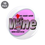 "I Love Wine 3.5"" Button (10 pack)"
