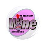 "I Love Wine 3.5"" Button"