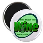 "I Love Wine 2.25"" Magnet (100 pack)"