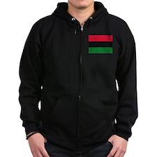 Black black Zip Hoodie