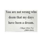 Edgar Allan Poe 23 Rectangle Magnet (100 pack)